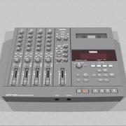 4トラックカセットレコーダー:C4D形式 3d model