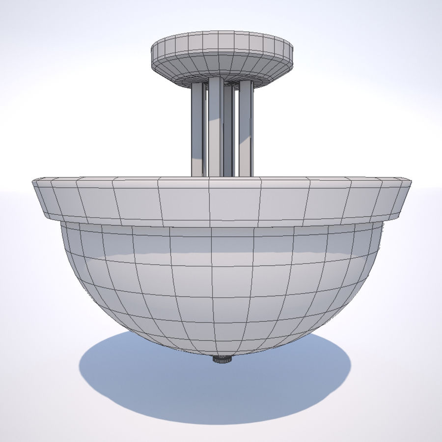 Deckenleuchte royalty-free 3d model - Preview no. 2