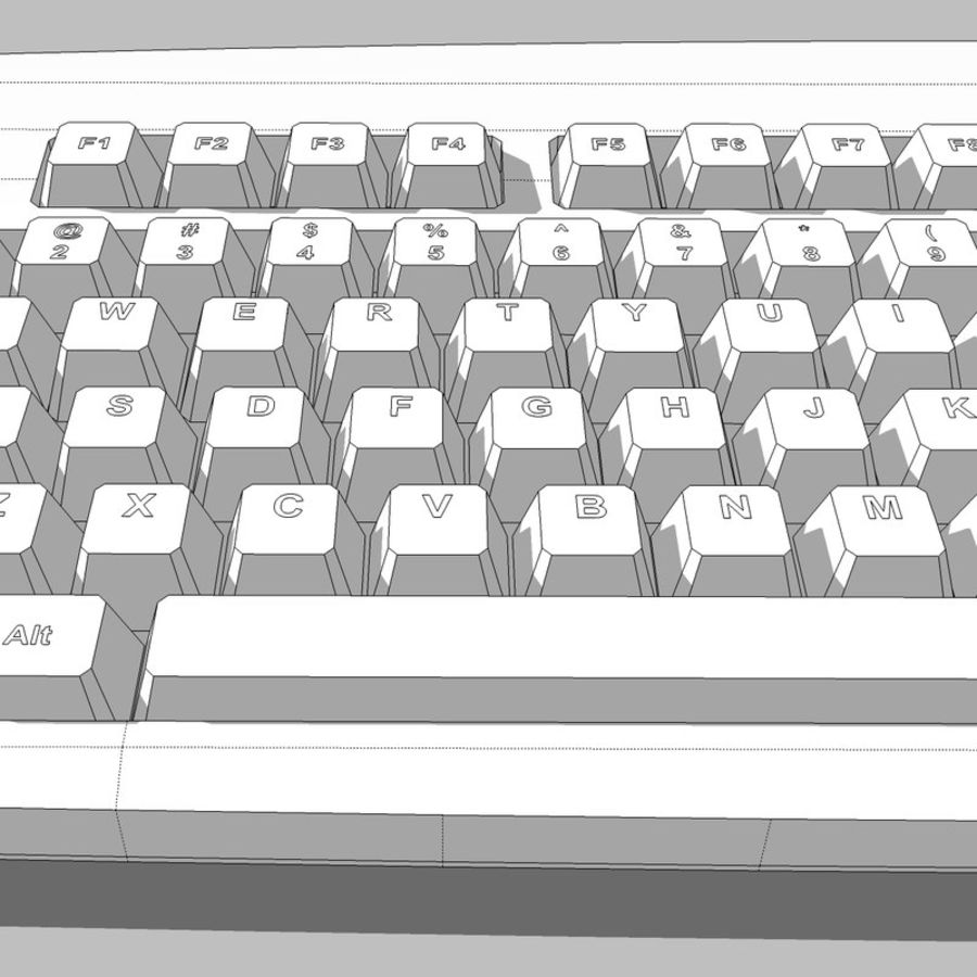 Computer Keyboard: Max Format royalty-free 3d model - Preview no. 18