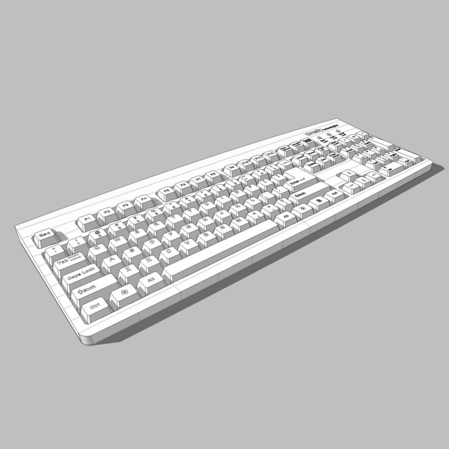 Computer Keyboard: Max Format royalty-free 3d model - Preview no. 14