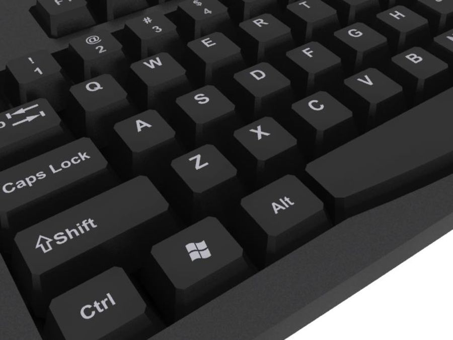 Computer Keyboard: Max Format royalty-free 3d model - Preview no. 11