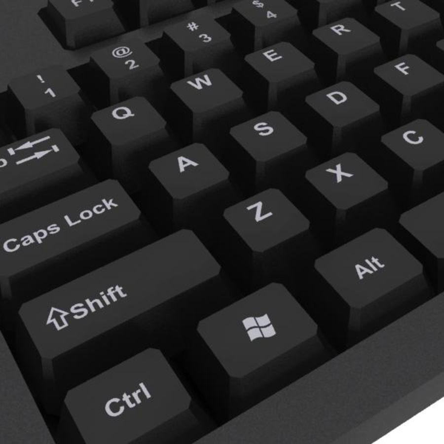 Computer Keyboard: Max Format royalty-free 3d model - Preview no. 1
