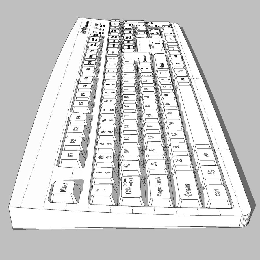 Computer Keyboard: Max Format royalty-free 3d model - Preview no. 15