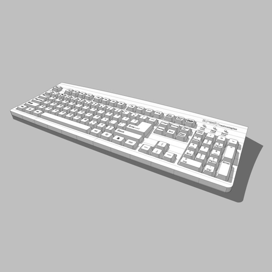 Computer Keyboard: Max Format royalty-free 3d model - Preview no. 16