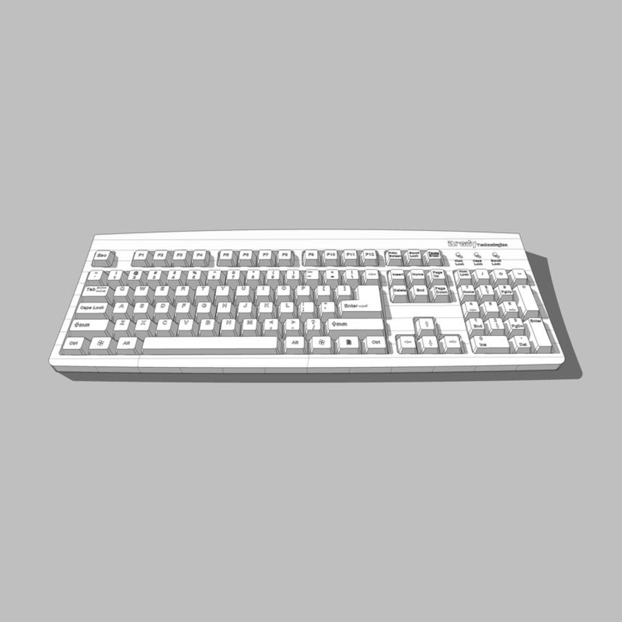 Computer Keyboard: Max Format royalty-free 3d model - Preview no. 12