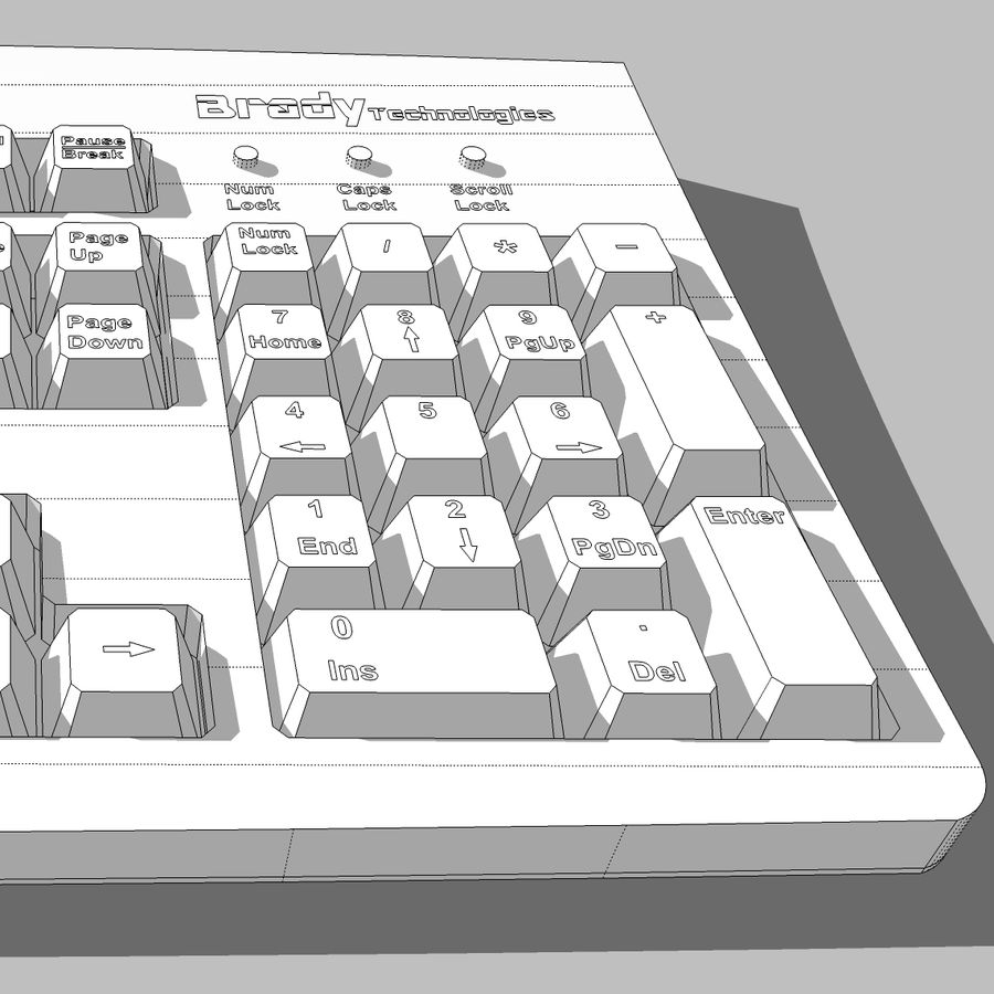 Computer Keyboard: Max Format royalty-free 3d model - Preview no. 17
