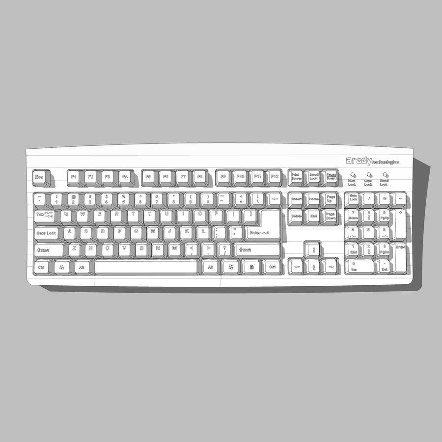 Computer Keyboard: Max Format royalty-free 3d model - Preview no. 13