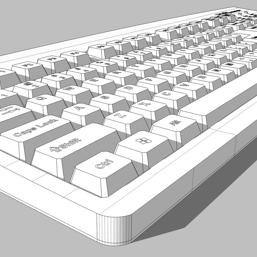 Computer Keyboard: Max Format royalty-free 3d model - Preview no. 19