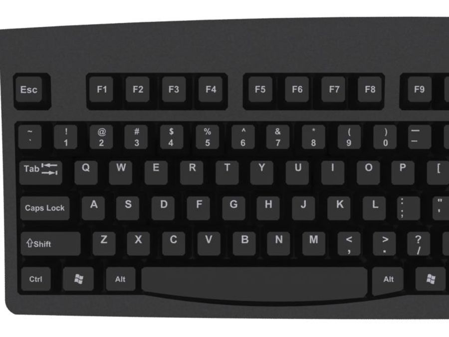 Computer Keyboard: Max Format royalty-free 3d model - Preview no. 7