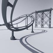 Roller Coaster 2 3d model