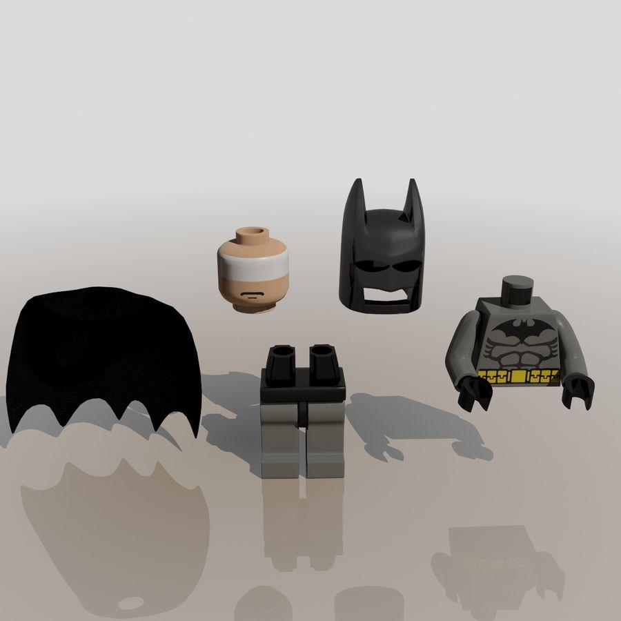 배트맨 레고 피규어 royalty-free 3d model - Preview no. 3