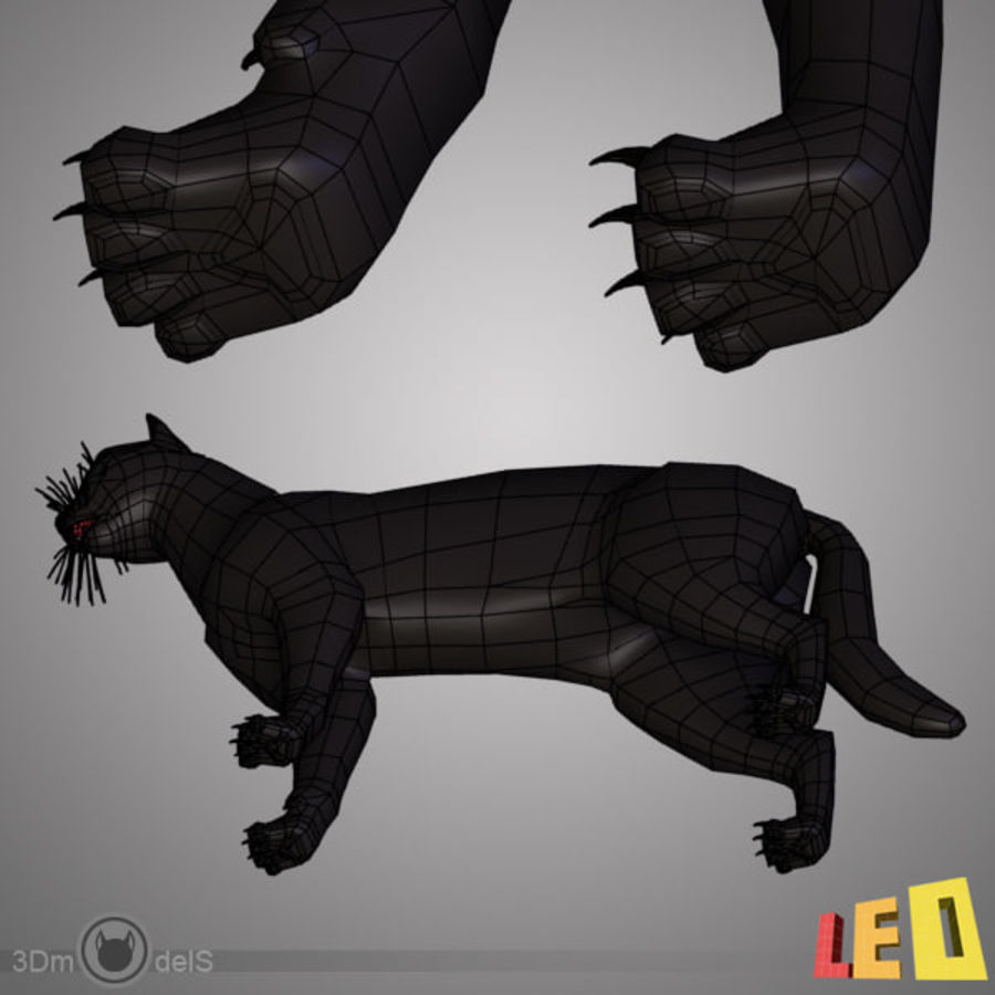 Kedi royalty-free 3d model - Preview no. 9