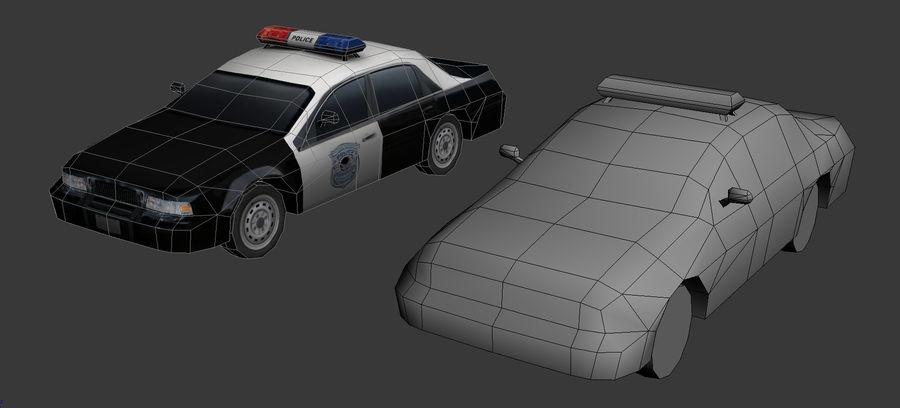 低ポリパトカー royalty-free 3d model - Preview no. 2