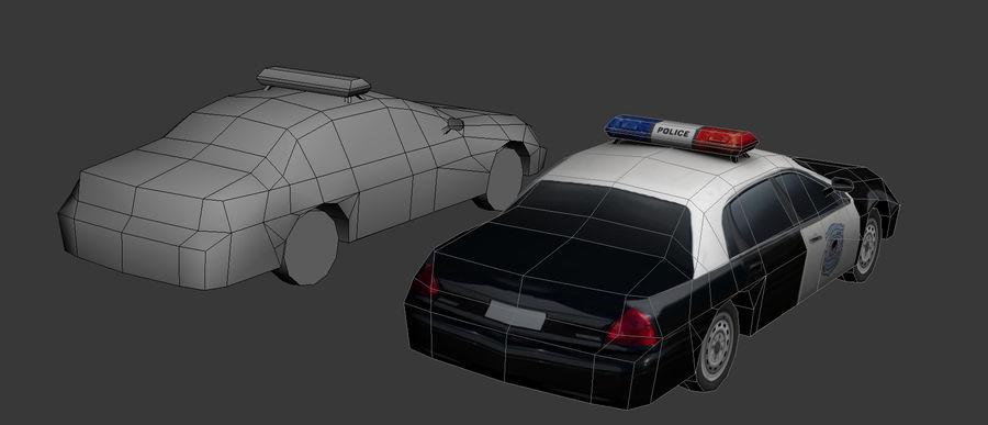 低ポリパトカー royalty-free 3d model - Preview no. 3