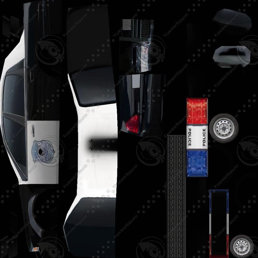 低ポリパトカー royalty-free 3d model - Preview no. 5