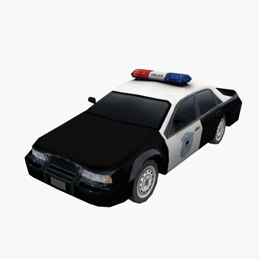 Low Poly Police Car 3d Model 15 Obj Max Fbx 3ds Free3d