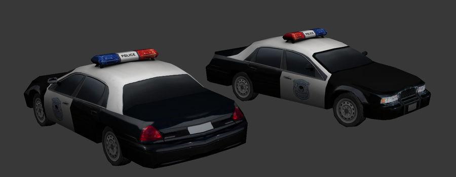 低ポリパトカー royalty-free 3d model - Preview no. 4