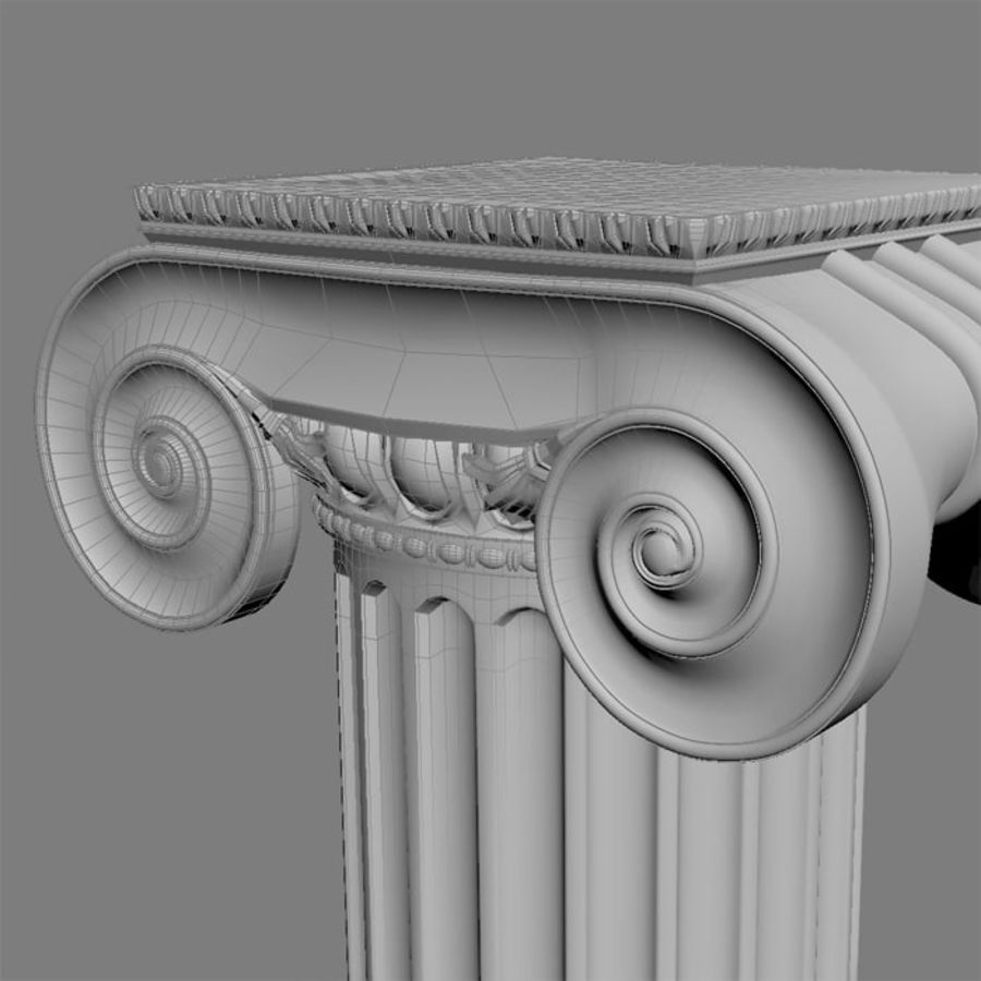 Ionic Column royalty-free 3d model - Preview no. 5