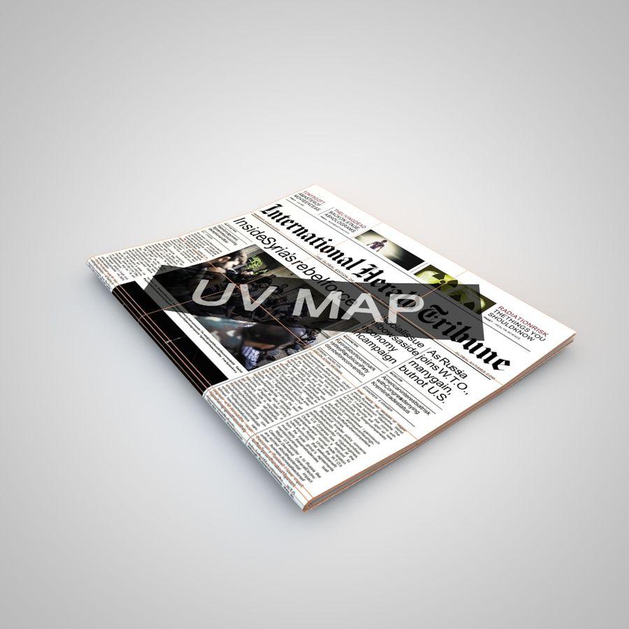 报纸杂志 royalty-free 3d model - Preview no. 5