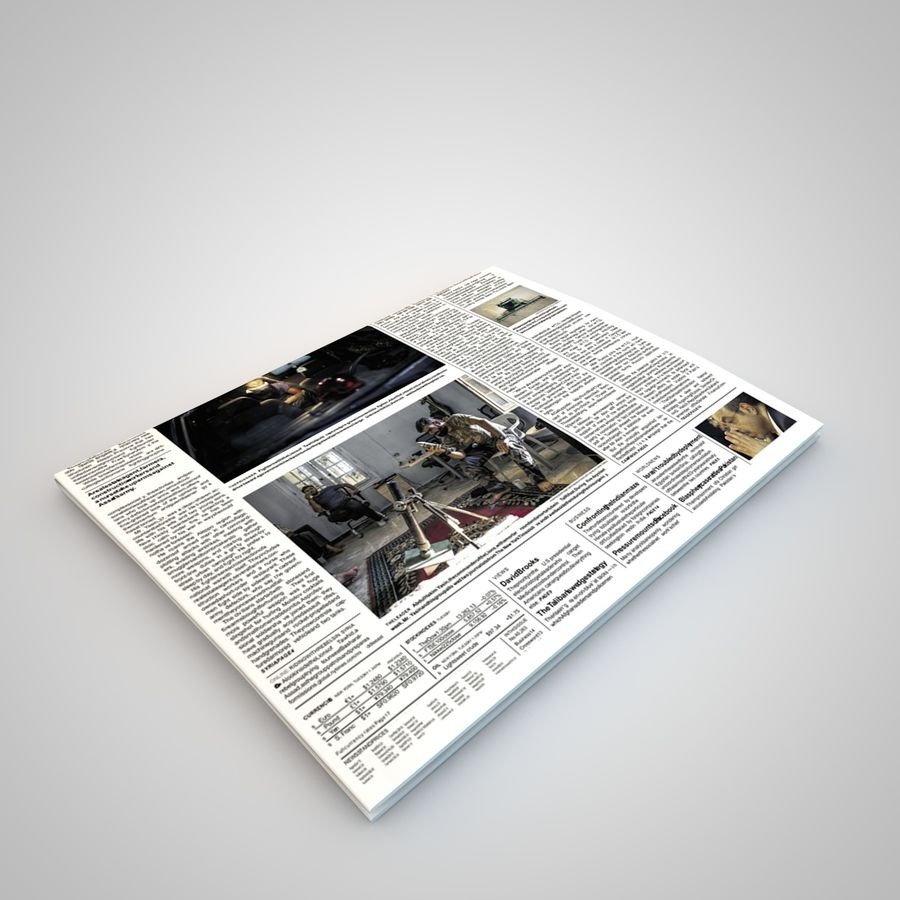 报纸杂志 royalty-free 3d model - Preview no. 3
