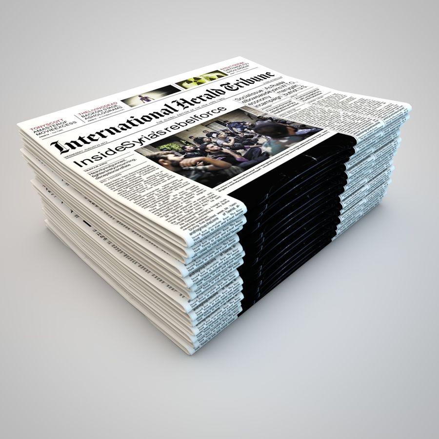 Dziennik Gazety royalty-free 3d model - Preview no. 1