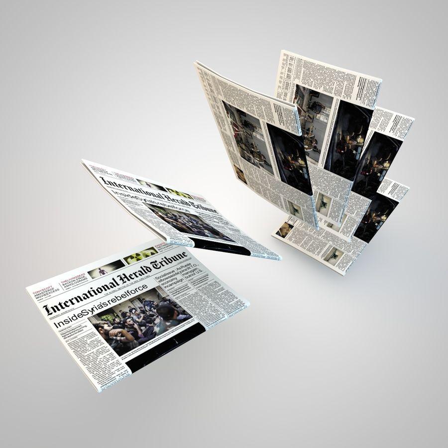 Dziennik Gazety royalty-free 3d model - Preview no. 4