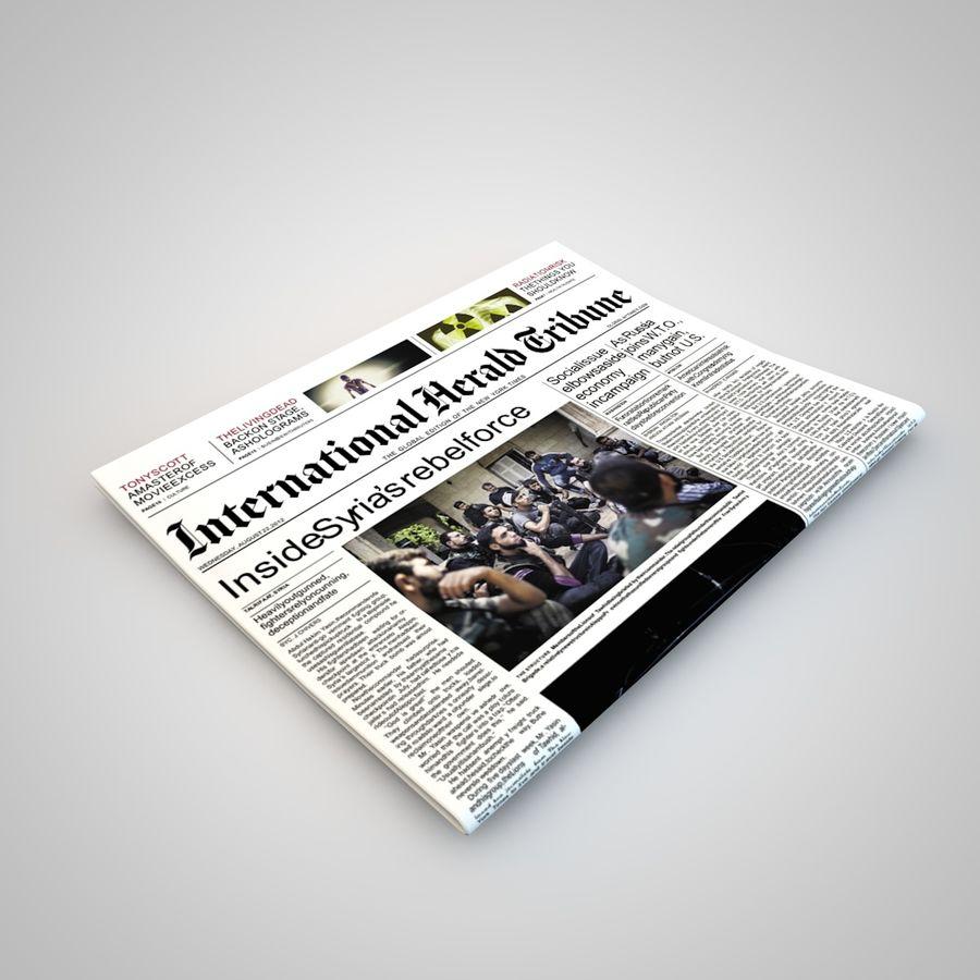 报纸杂志 royalty-free 3d model - Preview no. 2
