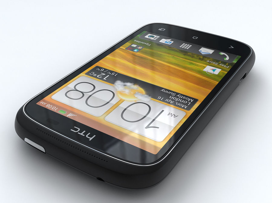 HTC Desire C royalty-free 3d model - Preview no. 5