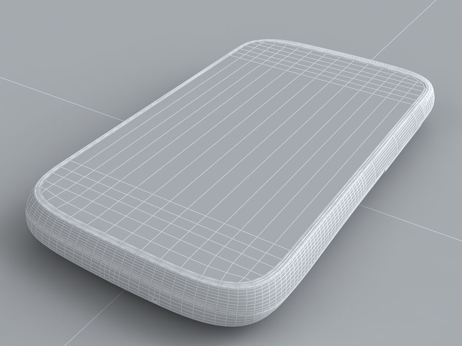 HTC Desire C royalty-free 3d model - Preview no. 30