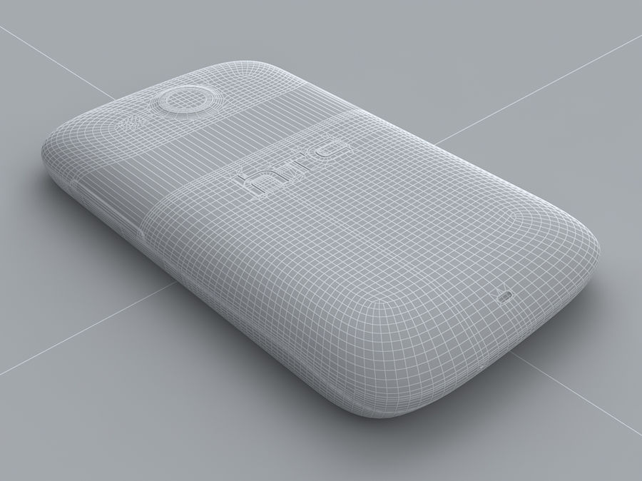 HTC Desire C royalty-free 3d model - Preview no. 31