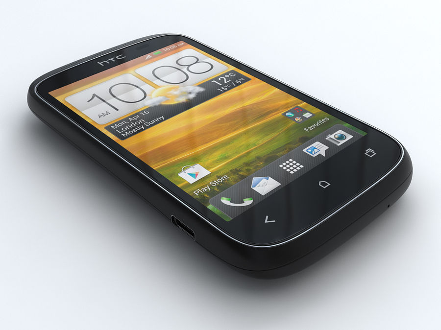 HTC Desire C royalty-free 3d model - Preview no. 1