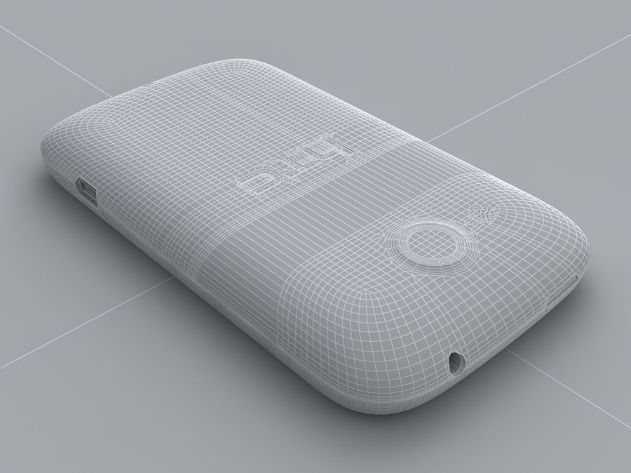 HTC Desire C royalty-free 3d model - Preview no. 32