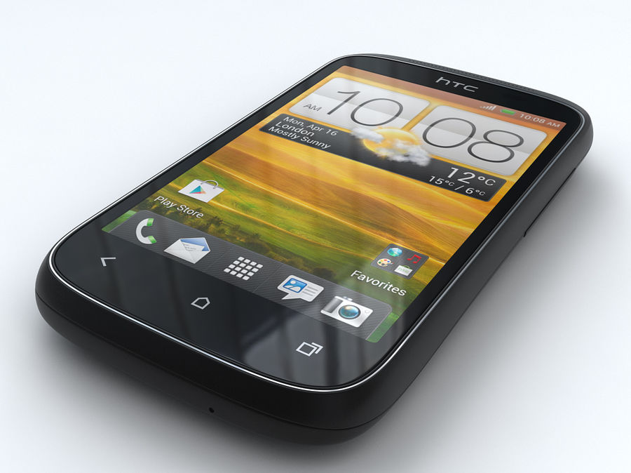 HTC Desire C royalty-free 3d model - Preview no. 4