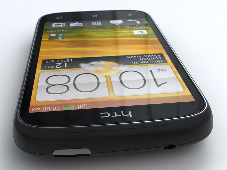 HTC Desire C royalty-free 3d model - Preview no. 7