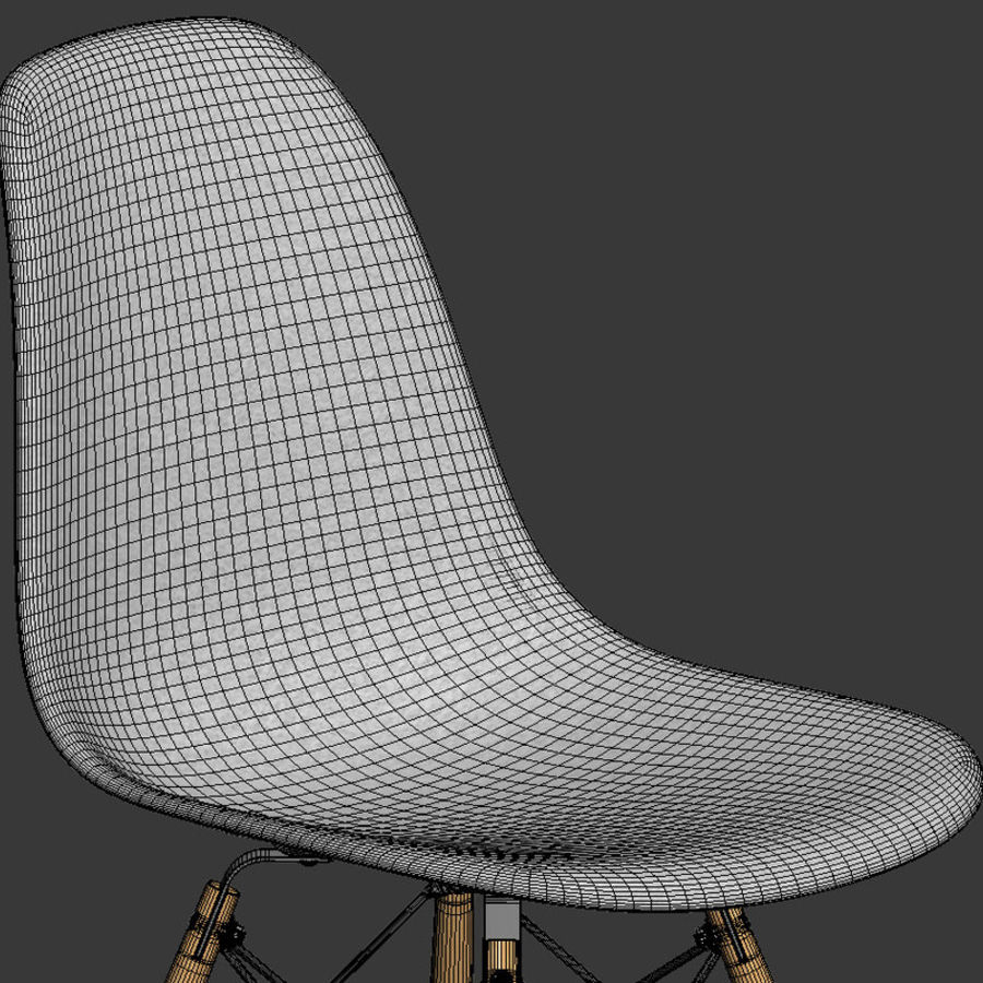 DSW Chair royalty-free 3d model - Preview no. 4