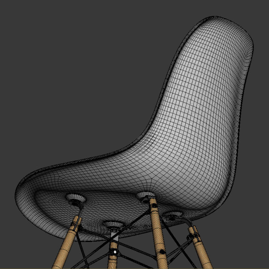 DSW Chair royalty-free 3d model - Preview no. 6