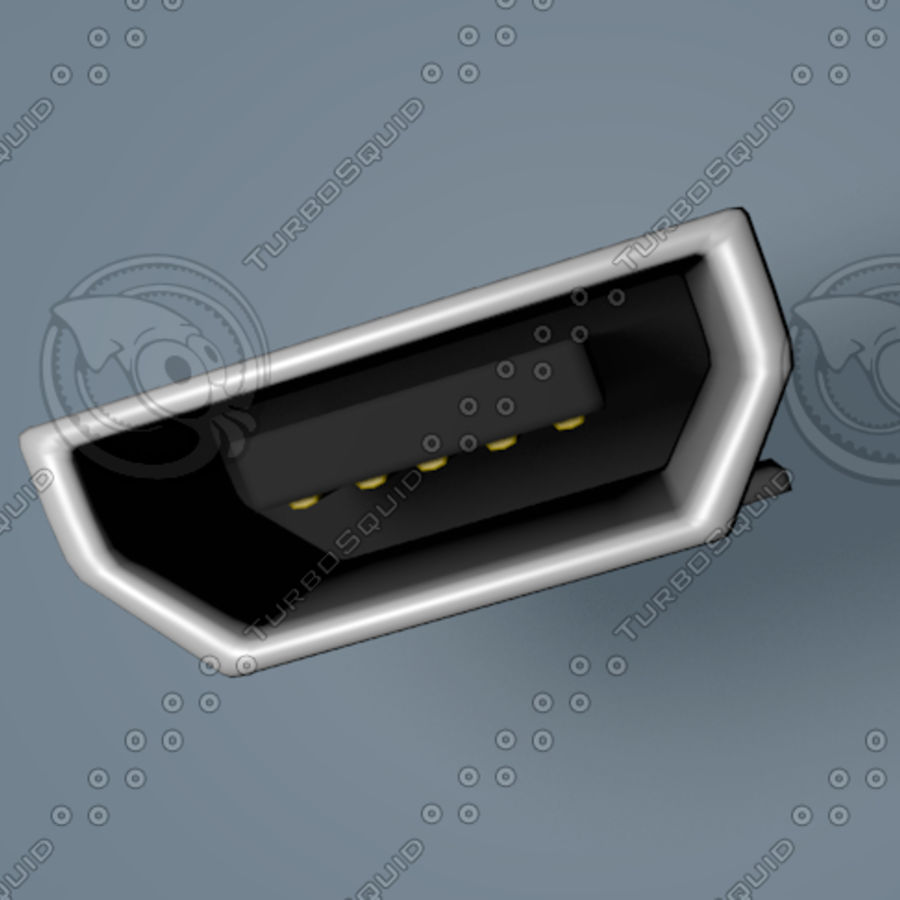 Micro-USB royalty-free 3d model - Preview no. 1
