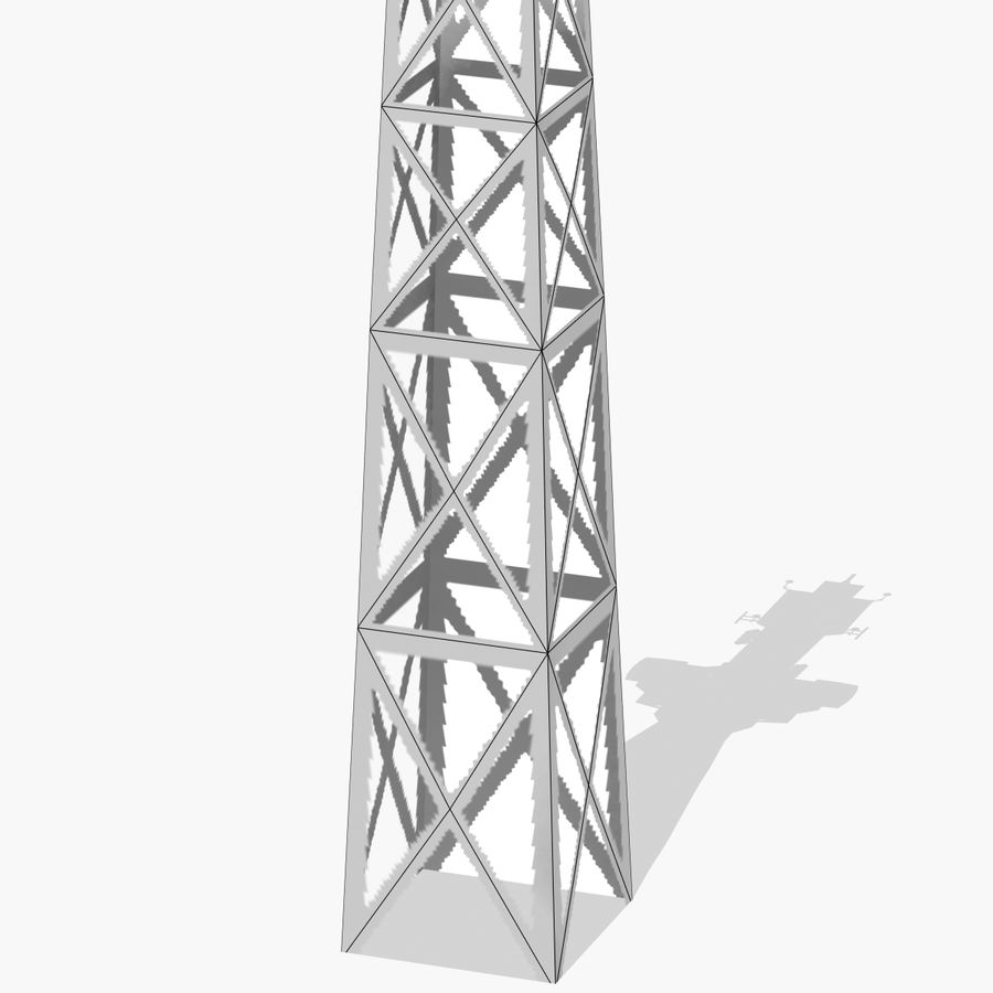 Radio tower royalty-free 3d model - Preview no. 8