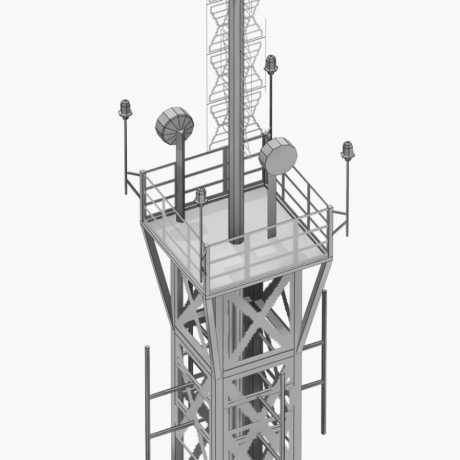 Radio tower royalty-free 3d model - Preview no. 7