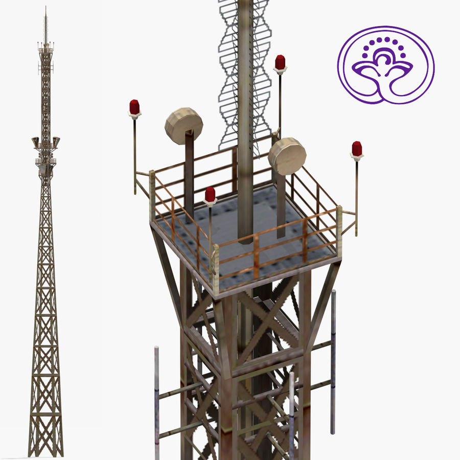 Radio tower royalty-free 3d model - Preview no. 1