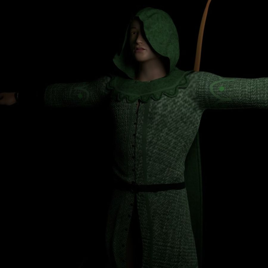 Robin Hood royalty-free 3d model - Preview no. 3