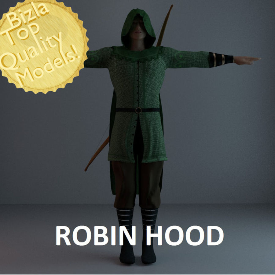 Robin Hood royalty-free 3d model - Preview no. 1
