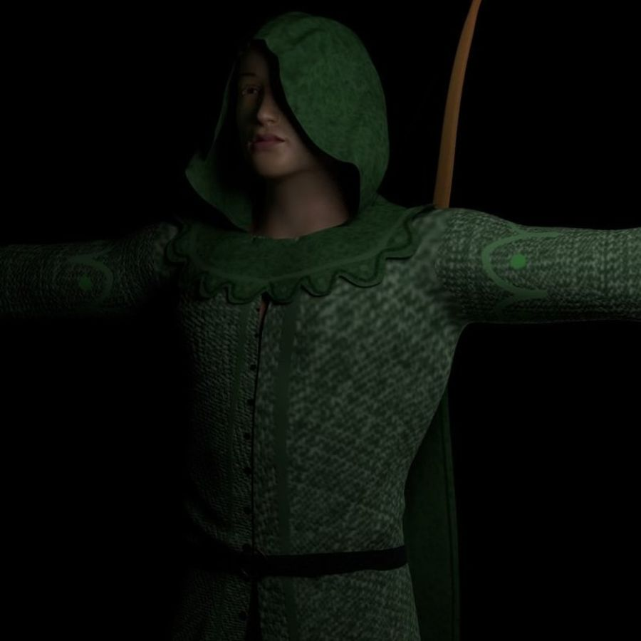 Robin Hood royalty-free 3d model - Preview no. 2