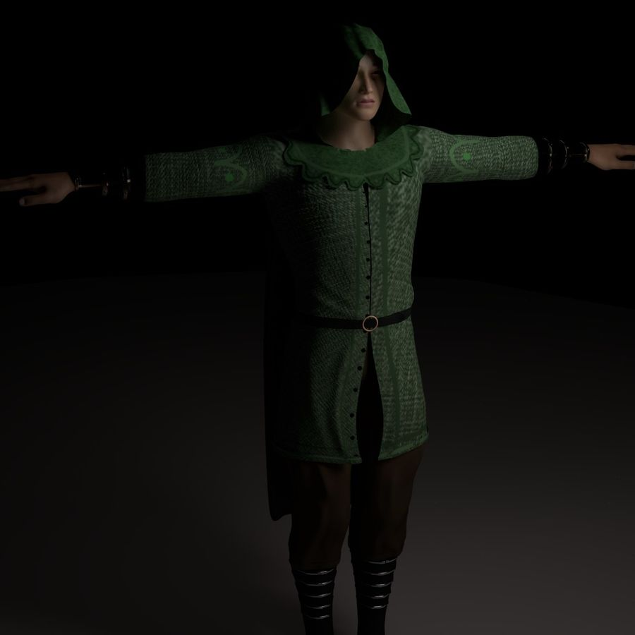 Robin Hood royalty-free 3d model - Preview no. 5