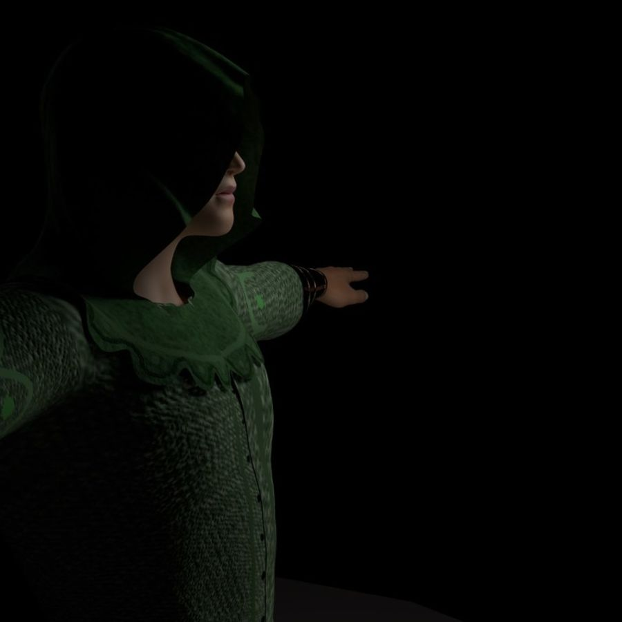 Robin Hood royalty-free 3d model - Preview no. 4