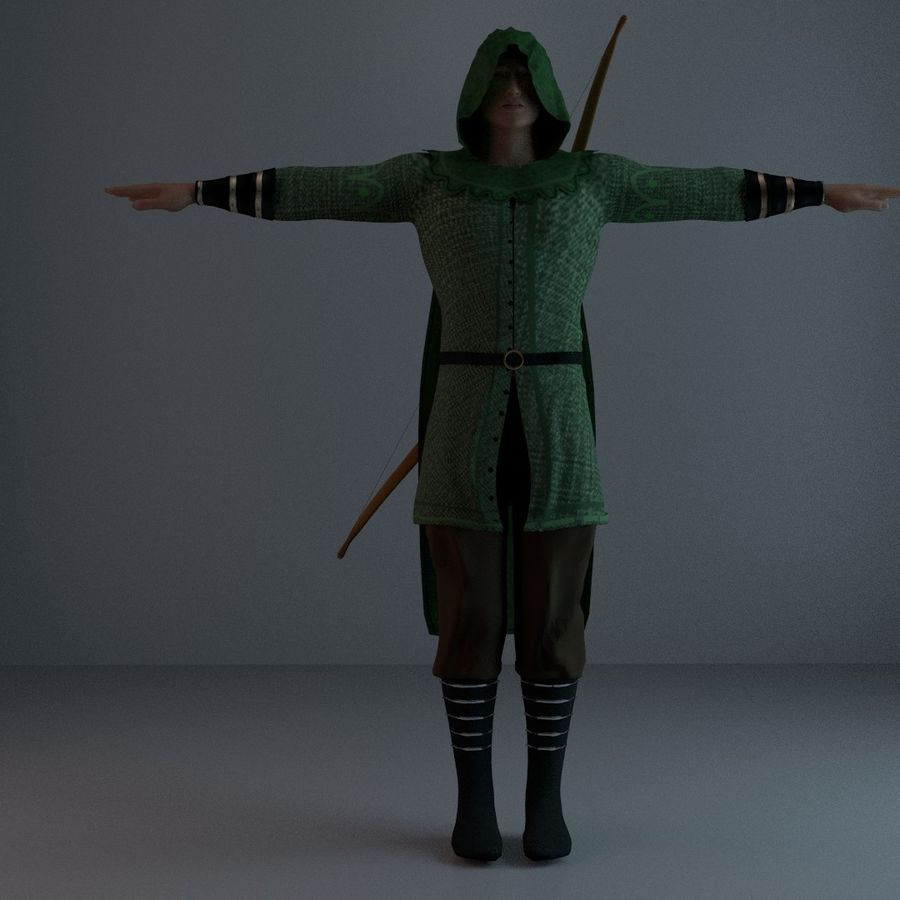 Robin Hood royalty-free 3d model - Preview no. 16