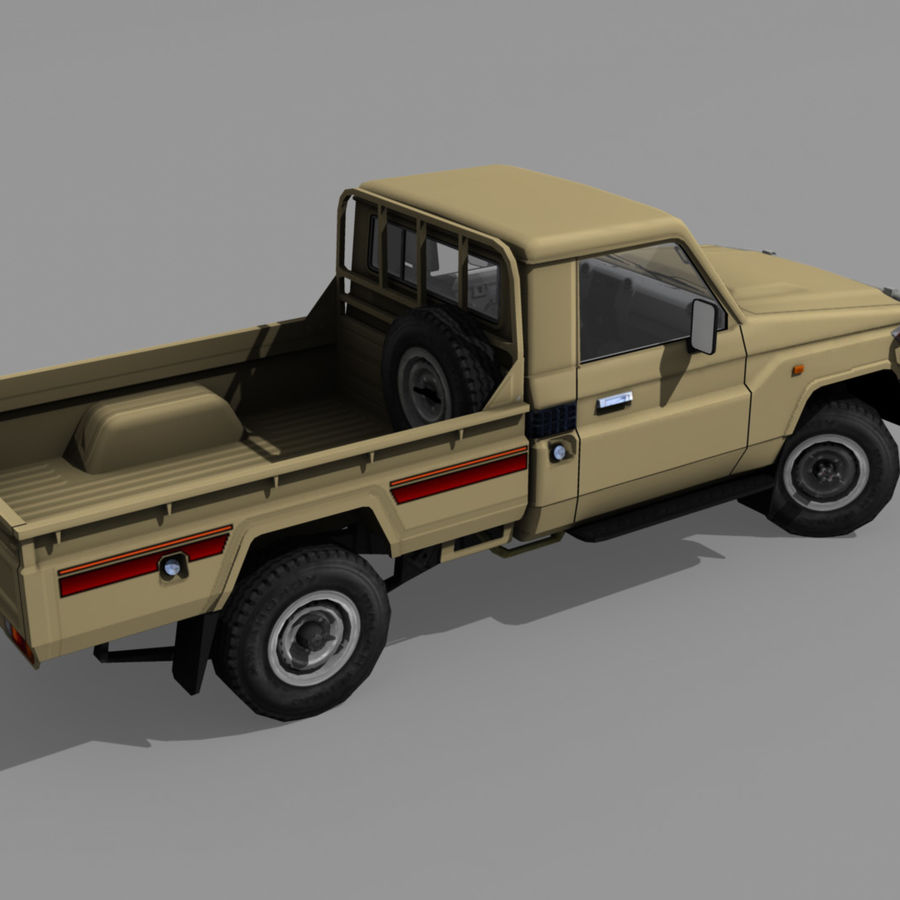 Land Cruiser royalty-free 3d model - Preview no. 5