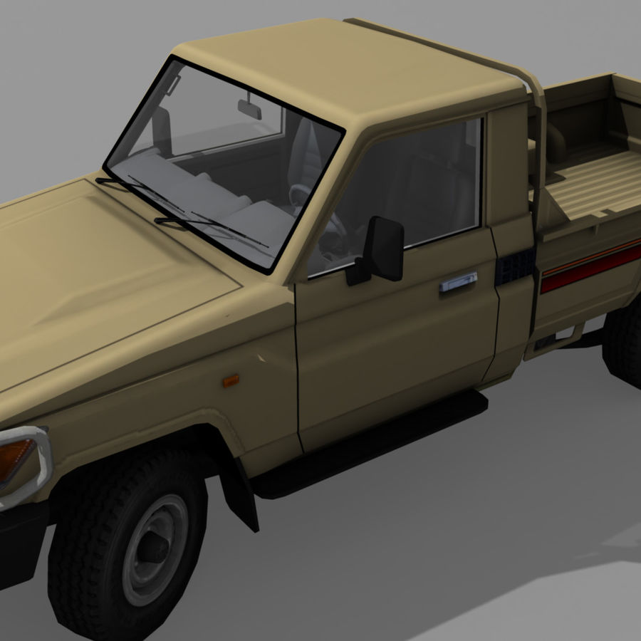 Land Cruiser royalty-free 3d model - Preview no. 3