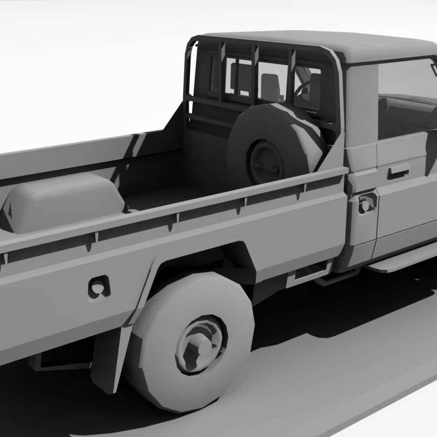 Land Cruiser royalty-free 3d model - Preview no. 7