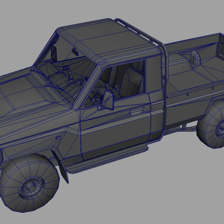 Land Cruiser royalty-free 3d model - Preview no. 8